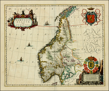 Scandinavia Map By Johannes Blaeu