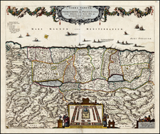 Holy Land Map By Nicolaes Visscher I