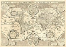 World, World and Celestial Maps Map By Jodocus Hondius / Francois Jollain