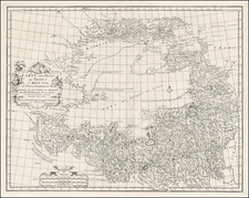 China and Central Asia & Caucasus Map By Jean-Baptiste Bourguignon d'Anville