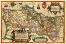 Europe and Portugal Map By Jodocus Hondius - Mercator