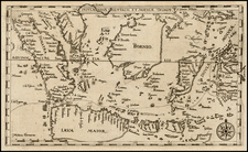 Southeast Asia, Philippines and Other Islands Map By Levinus Hulsius
