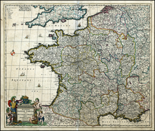 France Map By Frederick De Wit