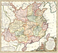 Asia and China Map By Louis Brion de la Tour