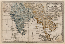 India and Southeast Asia Map By Christopher T. Middleton