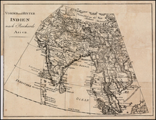 India and Southeast Asia Map By Christian Gottlieb Reichard
