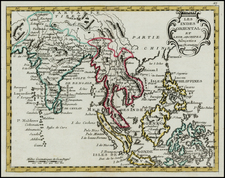 India, Southeast Asia and Philippines Map By Jean-Baptiste Nolin