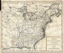 United States, South, Midwest and Plains Map By Louis Brion de la Tour
