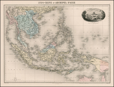 China, Southeast Asia and Philippines Map By Jean Migeon