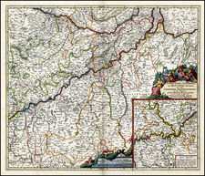 Germany Map By Nicolaes Visscher I