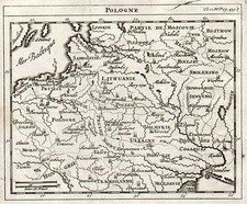 Europe, Poland, Russia, Hungary and Baltic Countries Map By Jacques Peeters