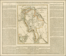 India and Southeast Asia Map By Carl Ferdinand Weiland