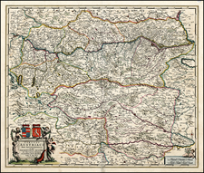 Austria Map By Frederick De Wit