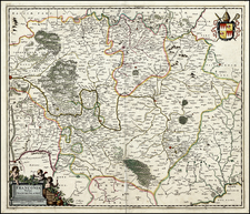 Germany Map By Johannes Blaeu / Abraham Wolfgang
