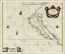 Southwest, North America, Baja California, Pacific and California Map By Pieter Goos