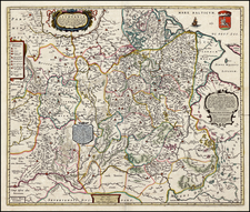 Poland, Ukraine and Baltic Countries Map By Johannes Blaeu / Abraham Wolfgang