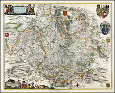 Germany Map By Willem Janszoon Blaeu / Abraham Wolfgang