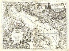 Europe, Balkans, Italy and Balearic Islands Map By Vincenzo Maria Coronelli