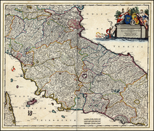 Italy Map By Frederick De Wit