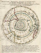 World, Southern Hemisphere, Polar Maps, Australia & Oceania, Australia and Oceania Map By Pierre Moullart Sanson
