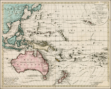 China, Japan, Korea, Southeast Asia, Philippines, Australia & Oceania, Australia, Oceania and Other Pacific Islands Map By Johann Walch