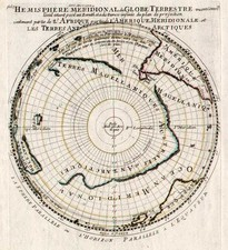 World, Southern Hemisphere, Polar Maps, Australia & Oceania, Australia and New Zealand Map By Pierre Moullart Sanson