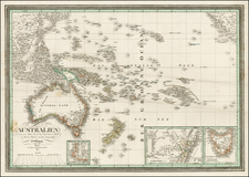 Australia & Oceania, Australia, Oceania and Other Pacific Islands Map By Carl Ferdinand Weiland
