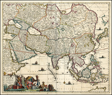 Asia and Asia Map By Frederick De Wit