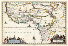 West Africa Map By Willem Janszoon Blaeu / Abraham Wolfgang