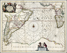 Africa, East Africa and West Africa Map By Willem Janszoon Blaeu / Abraham Wolfgang