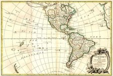 South America and America Map By Jean Janvier