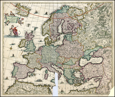 Europe Map By Frederick De Wit