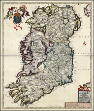 Ireland Map By Frederick De Wit / Abraham Wolfgang