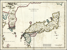 Japan and Korea Map By Johannes Blaeu