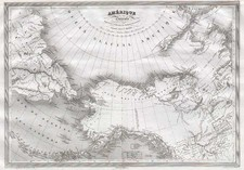 Alaska, Asia, Russia in Asia and Canada Map By Charles V. Monin