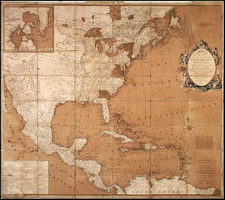United States, New England and North America Map By Carrington Bowles