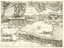 Europe and Balkans Map By Vincenzo Maria Coronelli