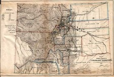 Southwest and Rocky Mountains Map By General Land Office  &  Major & Knapp
