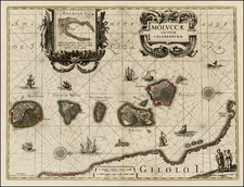 Southeast Asia and Other Islands Map By Willem Janszoon Blaeu / Covens & Mortier