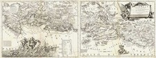 Europe, Balkans and Balearic Islands Map By Vincenzo Maria Coronelli