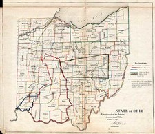 Midwest Map By General Land Office  &  Major & Knapp