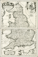 British Isles Map By Vincenzo Maria Coronelli