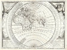 World, World and Eastern Hemisphere Map By Vincenzo Maria Coronelli