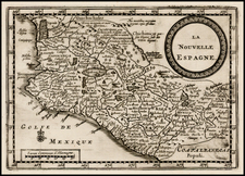 Mexico Map By Pieter van der Aa