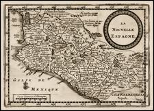 Mexico Map By Pieter van der Aa