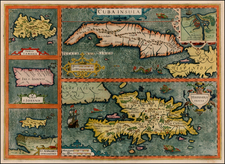 Caribbean Map By Jodocus Hondius - Mercator