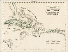 Florida and Caribbean Map By Schleiben