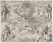 World, World, Western Hemisphere, Southern Hemisphere, South America and America Map By Theodor De Bry / Girolamo Benzoni