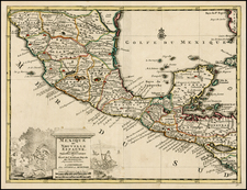 Mexico and Central America Map By Covens & Mortier