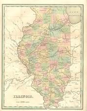 Midwest Map By Thomas Gamaliel Bradford